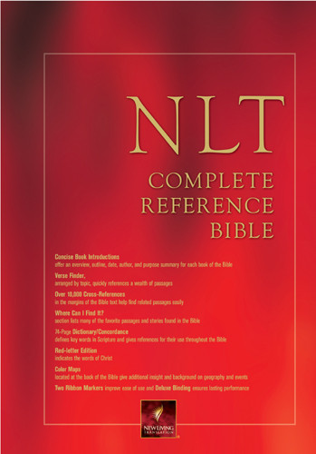 NLT Complete Reference Bible: NLT1 - LeatherLike Burgundy Imitation Leather With ribbon marker(s)