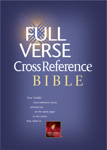 Full Verse Cross Reference Bible: NLT1 - Bonded Leather Burgundy