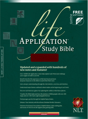 Life Application Study Bible NLT - LeatherLike Burgundy With ribbon marker(s)