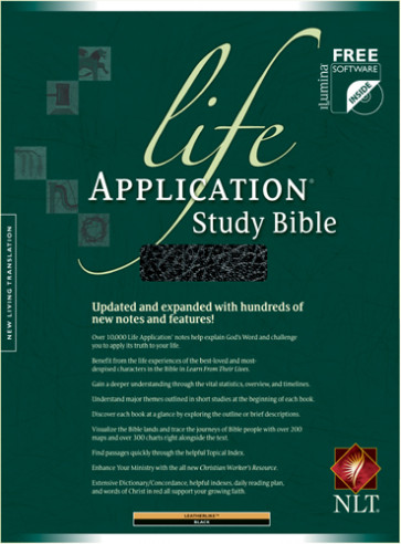 Life Application Study Bible NLT - LeatherLike Black With ribbon marker(s)