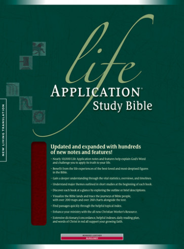 Life Application Study Bible NLT - Bonded Leather Burgundy With ribbon marker(s)