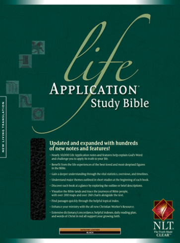 Life Application Study Bible NLT - Genuine Leather Black With ribbon marker(s)