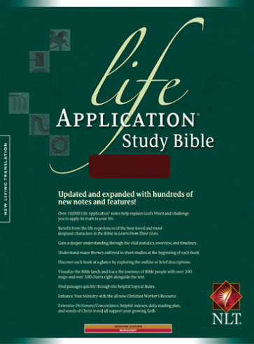 Life Application Study Bible NLT - Genuine Leather Burgundy With ribbon marker(s)