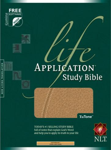 Life Application Study Bible NLT, TuTone - LeatherLike Camel With ribbon marker(s)