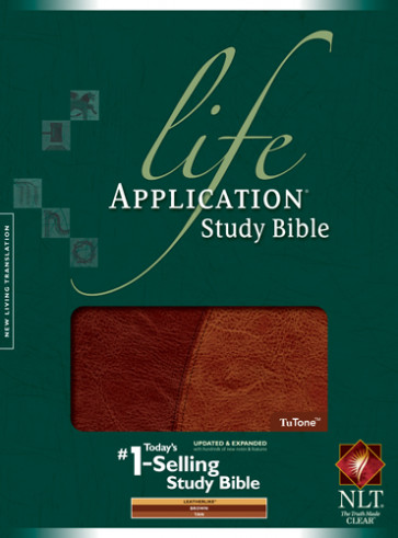 Life Application Study Bible NLT, TuTone - LeatherLike Brown/Tan With ribbon marker(s)