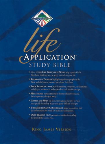 Life Application Study Bible KJV - LeatherLike Navy With ribbon marker(s)