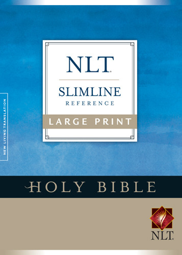 Premium Slimline Reference Bible NLT, Large Print - Hardcover With printed dust jacket