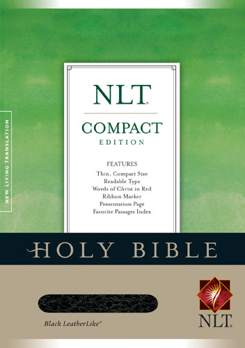 Compact Edition Bible NLT - LeatherLike Black With ribbon marker(s)