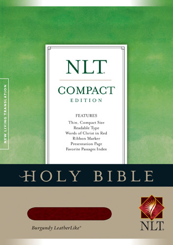 Compact Edition Bible NLT - LeatherLike Burgundy With ribbon marker(s)
