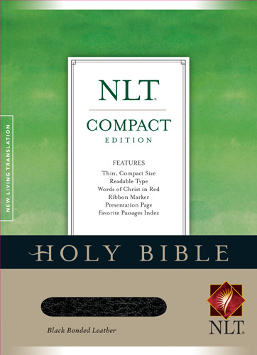 Compact Edition Bible NLT - Bonded Leather Black With ribbon marker(s)