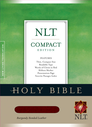Compact Edition Bible NLT - Bonded Leather Burgundy With ribbon marker(s)