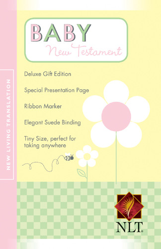 Baby New Testament: NLT - Suede LeatherLike Pink With ribbon marker(s)