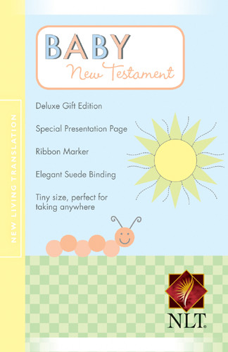 Baby New Testament: NLT - Suede LeatherLike Yellow With ribbon marker(s)