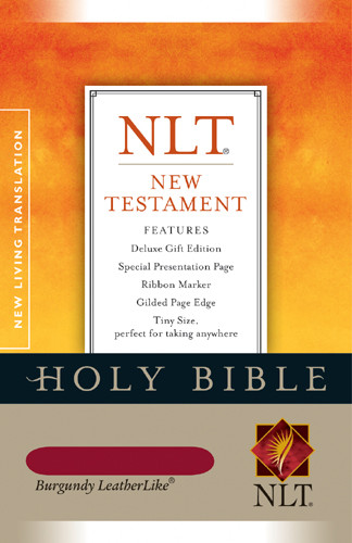 New Testament: NLT - LeatherLike Burgundy With ribbon marker(s)