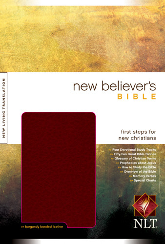New Believer's Bible NLT - Bonded Leather Burgundy