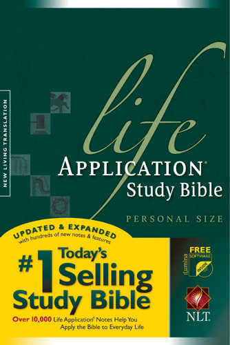 Life Application Study Bible NLT, Personal Size - Hardcover With printed dust jacket