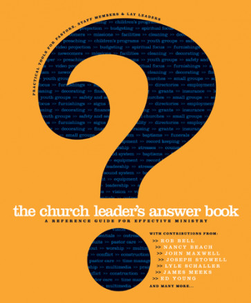 The Church Leader's Answer Book - Hardcover