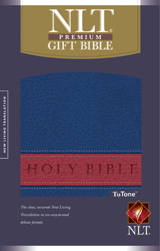 Premium Gift Bible NLT, TuTone - Imitation Leather Blue/Red With ribbon marker(s)