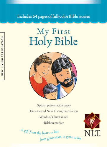 My First Holy Bible: NLT - Hardcover Blue With ribbon marker(s)