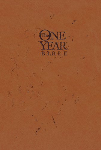 The One Year Bible Compact Edition NLT - LeatherLike Hardcover Tan With ribbon marker(s)