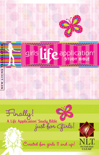 Girls Life Application Study Bible NLT - Softcover