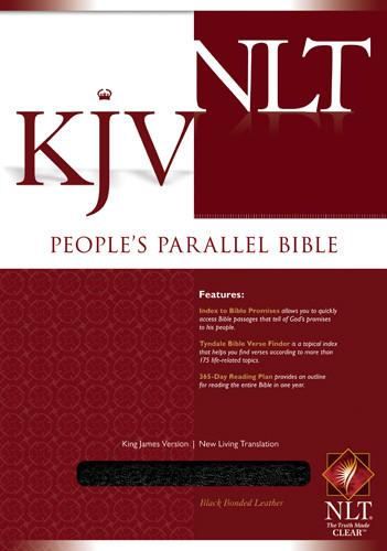 People's Parallel Edition KJV/NLT - Bonded Leather Black