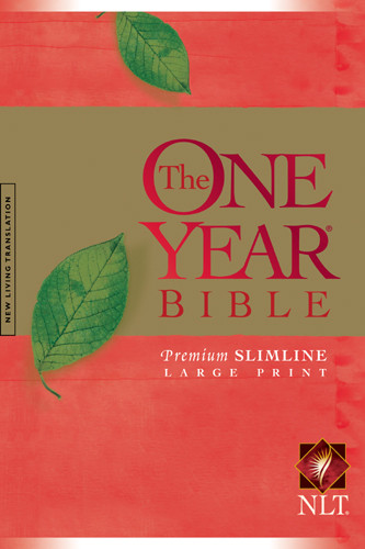 The One Year Bible NIV, Premium Slimline Large Print edition - Hardcover With printed dust jacket