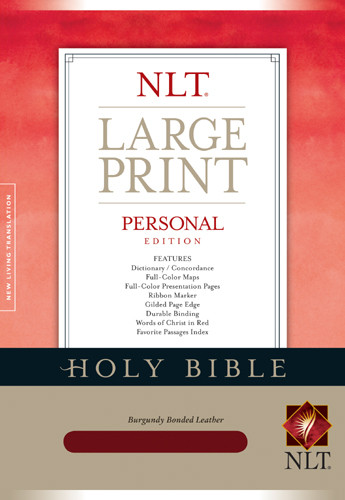Personal Edition Large Print: NLT - Bonded Leather Burgundy