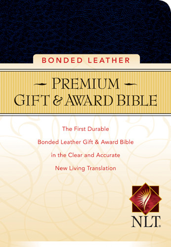 Premium Gift and Award Compact: NLT - Bonded Leather Navy