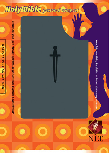 Holy Bible, Personal Compact - Sword: NLT - LeatherLike Grey With ribbon marker(s)