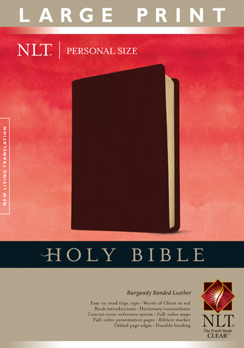 Holy Bible NLT, Personal Size Large Print edition - Bonded Leather With ribbon marker(s)