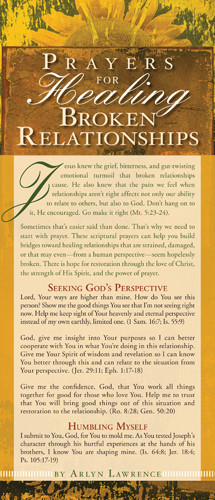 Prayers for Healing Broken Relationships - Cards