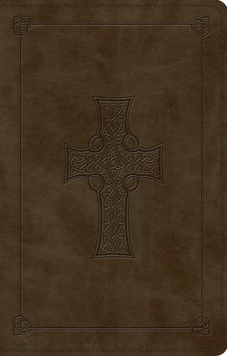 ESV Large Print Value Thinline Bible (TruTone, Olive, Celtic Cross Design) - Imitation Leather