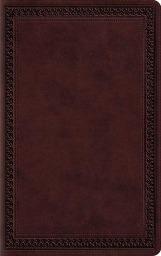 ESV Large Print Value Thinline Bible (TruTone, Mahogany, Border Design) - Imitation Leather
