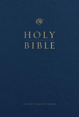 ESV Pew and Worship Bible, Large Print (Blue) - Hardcover