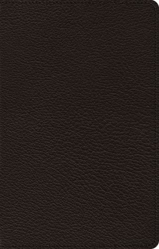 ESV Premium Thinline Bible (Goatskin, Black) - Genuine Leather With ribbon marker(s)