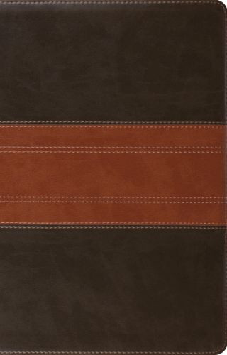 ESV Large Print Thinline Reference Bible (TruTone, Forest/Tan, Trail Design) - Imitation Leather With ribbon marker(s)