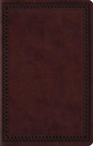 ESV Premium Gift Bible (TruTone, Mahogany, Border Design) - Imitation Leather