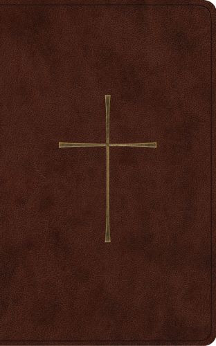 ESV Vest Pocket New Testament with Psalms and Proverbs (TruTone, Dark Brown, Cross Design) - Imitation Leather