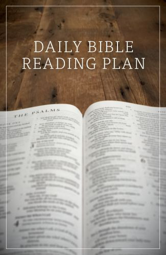 Daily Bible Reading Plan  - Pamphlet