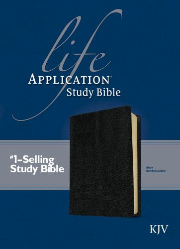 KJV Life Application Study Bible, Second Edition (Red Letter, Bonded Leather, Black) - Leather, bonded Black With ribbon marker(s)