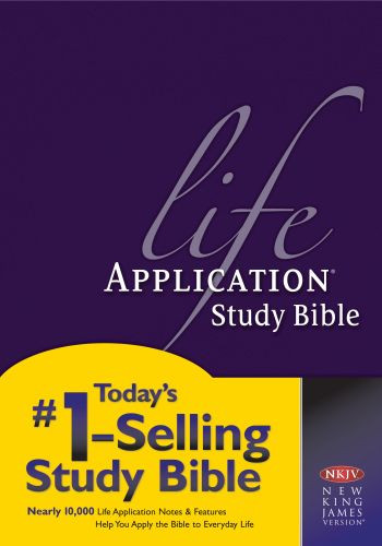 NKJV Life Application Study Bible, Second Edition (Red Letter, Hardcover) - Hardcover With printed dust jacket