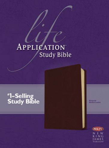 NKJV Life Application Study Bible, Second Edition (Red Letter, Bonded Leather, Burgundy/maroon) - Leather, bonded Burgundy/maroon With ribbon marker(s)