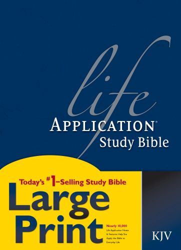 KJV Life Application Study Bible, Second Edition, Large Print (Red Letter, Hardcover) - Hardcover With printed dust jacket