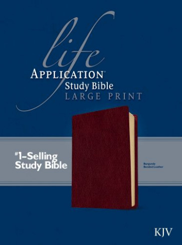 KJV Life Application Study Bible, Second Edition, Large Print (Red Letter, Bonded Leather, Burgundy/maroon) - Bonded Leather Burgundy With ribbon marker(s)