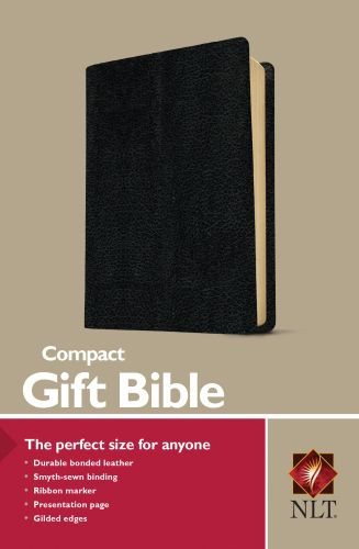 Compact Gift Bible NLT (Bonded Leather, Black) - Bonded Leather Black With ribbon marker(s)
