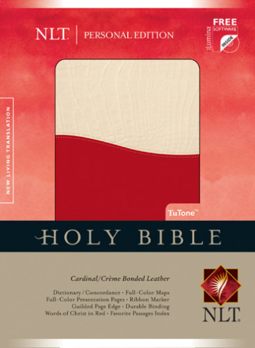 Holy Bible NLT, Personal Edition, TuTone - Bonded Leather Crème/Multicolor/Cardinal With ribbon marker(s)