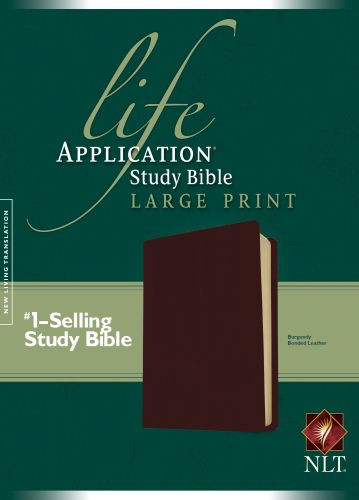 NLT Life Application Study Bible, Second Edition, Large Print (Red Letter, Bonded Leather, Burgundy/maroon) - Bonded Leather Burgundy With ribbon marker(s)