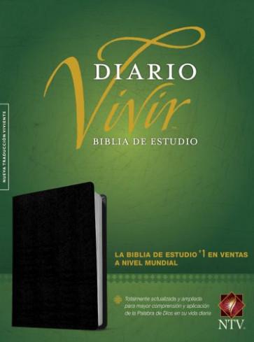 Biblia de estudio del diario vivir NTV  - Bonded Leather Black With thumb index and ribbon marker(s)