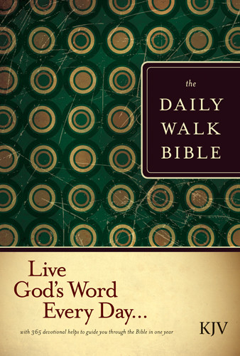The Daily Walk Bible KJV (Hardcover) - Hardcover With printed dust jacket